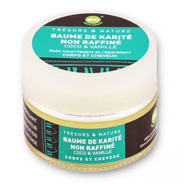 Baume de Karité non raffiné - Huile de Coco et Vanille